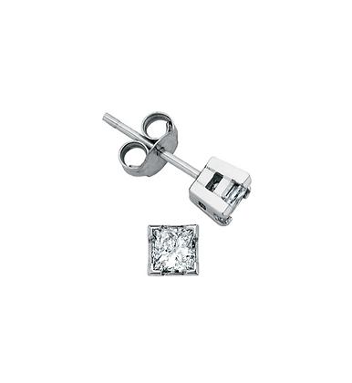 Princess Cut Canadian Diamond Studs (0.40 carat)