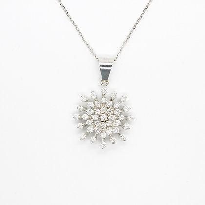 Diamond Snowflake Starburst Pendant