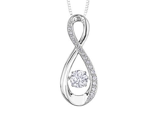 Pulse Infinity Diamond Pendant