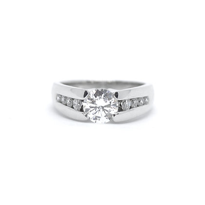 Claude Thibaudeau Round Diamond Engagement Ring Mount