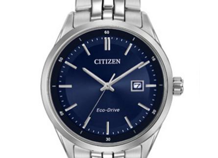 Citizen - Blue Dial Steel Link Watch