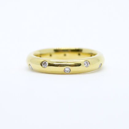 Yellow Gold Round Diamond Band (0.24 carat)