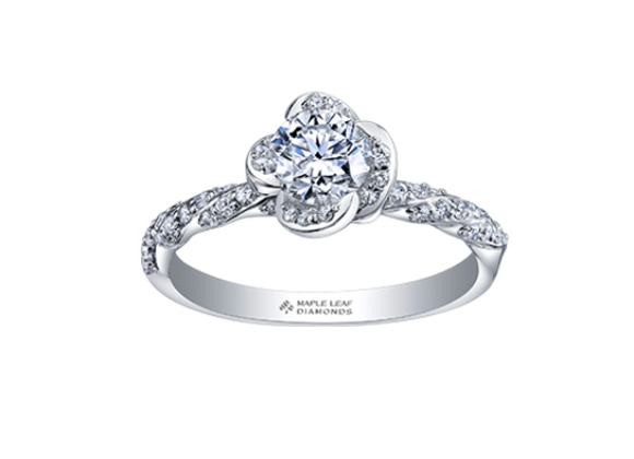 Winds Embrace Canadian Diamond Engagement Ring