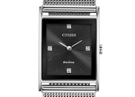 Stainless Steel Mesh & Black Dial Citizen Watch
