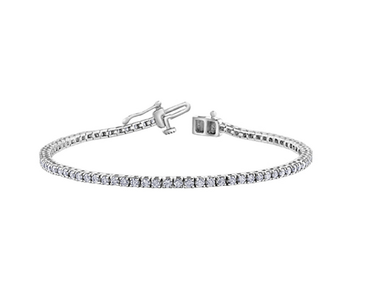 Canadian Diamond Claw Set Tennis Bracelet (2 Carat)