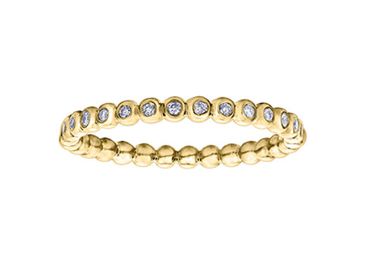 Yellow Gold Round Bead Diamond Chi Chi Band