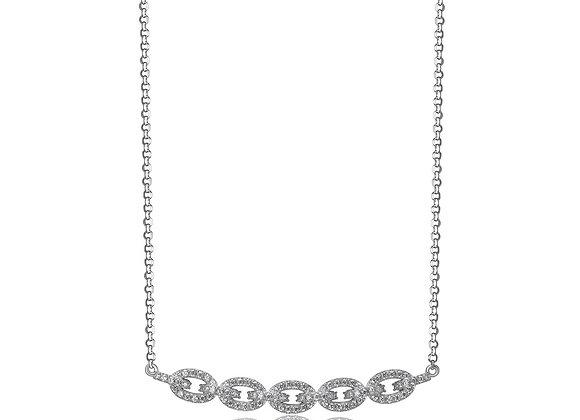 Silver CZ Chain Necklace