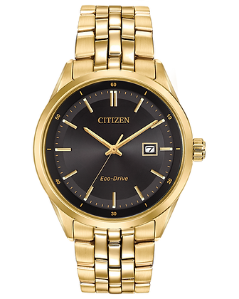 Citizen - Black Dial and Gold Metal Band