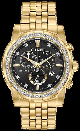 Gold Tone Chronograph Citizen Watch