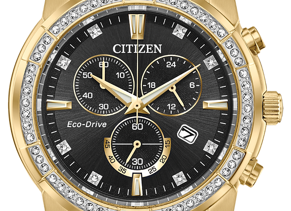 Gold Tone Chronograph Citizen Watch