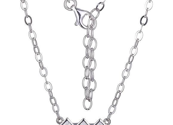 Trinity Princess Cut Cubic Zirconia Necklace