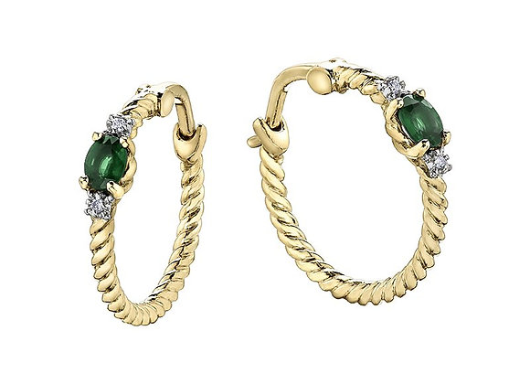 Emerald Rope Hoops
