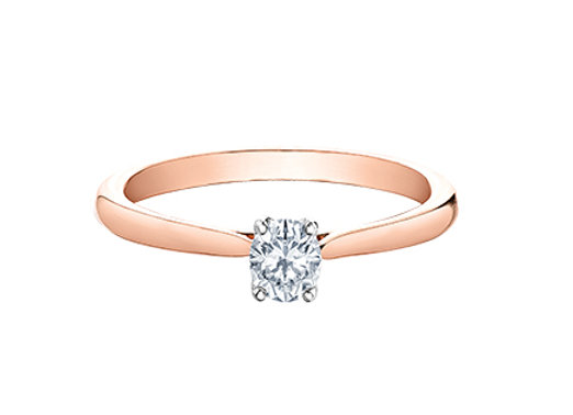 Rose Gold Oval Cut Solitaire Diamond Ring