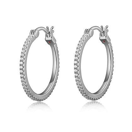 Sterling Silver Cubic Zirconia Hoops