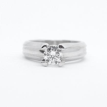 Claude Thibaudeau Round Cut Solitaire Diamond Engagement Ring Mount