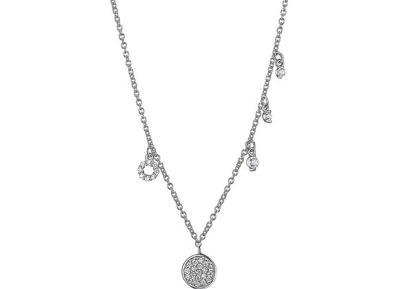 Silver Multi Charm Necklace