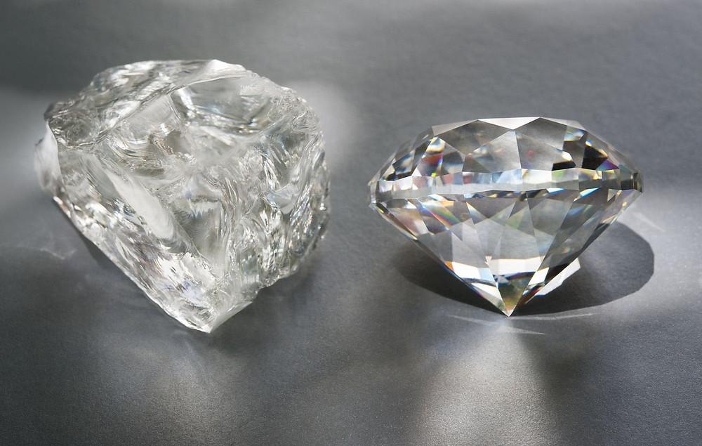 rough diamond to cut diamond