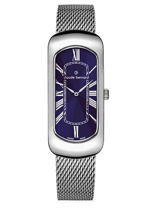Silver and Navy Metal Watch by Claude Bernard