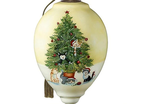 """Christmas Tree Cats"" Ornament"
