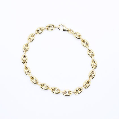 "Yellow Gold Gucci Link Bracelet (8"")"