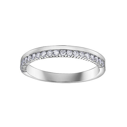 Double Diamond White Gold Chi Chi Band