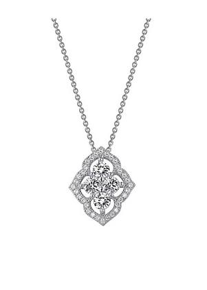 Simulated Diamond Fancy Pendant
