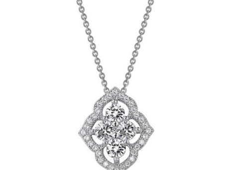 Simulated Diamond Fancy Pendant