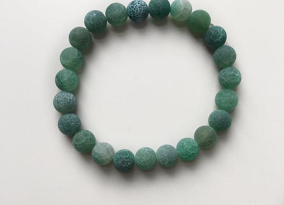 Green Crackle Agate