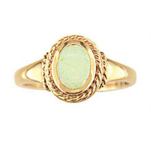 Oval Opal Rope Design Ring