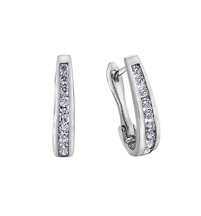 Channel Set Diamond Earrings (0.25 carat)