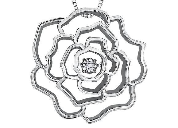Canadian Diamond Flower Pendant