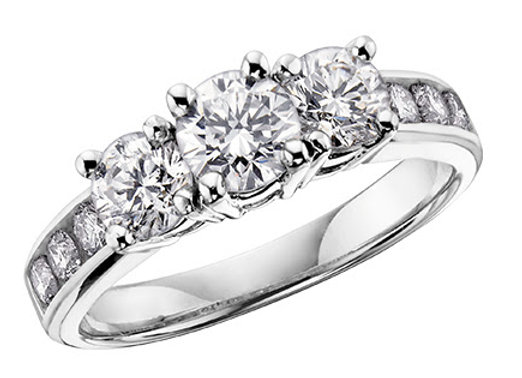 Brilliant Cut Trinity Diamond Ring