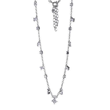 Cubic Zirconia Charm Necklace