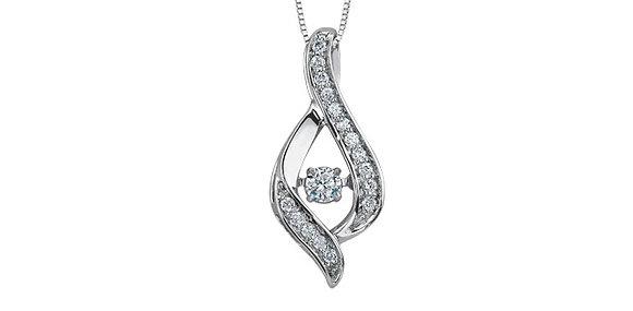 Tear Drop Shape PULSE Diamond Pendant