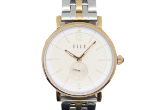 ELLE Two Tone Stainless Steel Link Watch