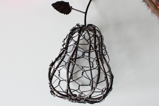 Wire Pear Decor