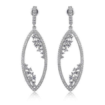 Cubic Zirconia Marquise Drop Earrings