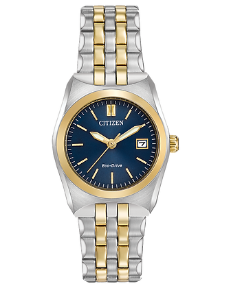 Citizen -  Ladies Watch Navy Blue Dial with Two Tone Metal Band