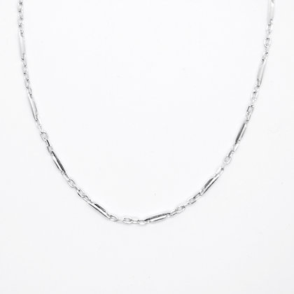 """White Gold Fancy Link Chain (17"""")"""
