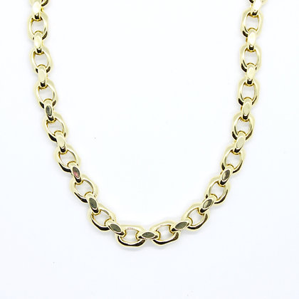 "Yellow Gold Fancy Rolo Link Chain (18"")"