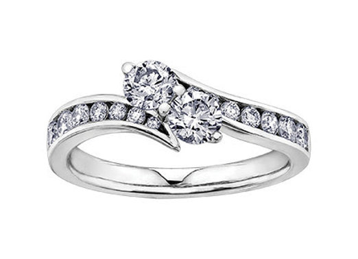 Together Forever Brilliant Cut Double Diamond Ring