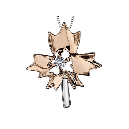 Canadian Diamond Maple Leaf Pendant