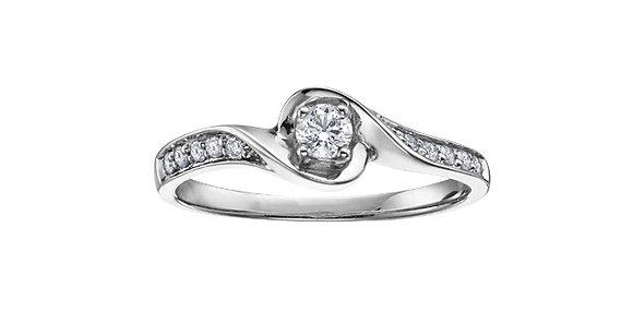Brilliant Cut Canadian Diamond Wrap Around Ring