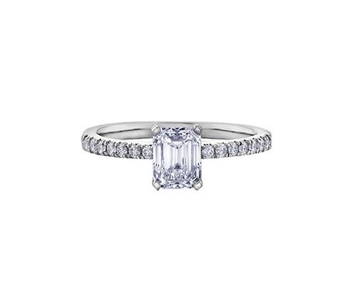 Emerald Cut Canadian Diamond Engagement Ring