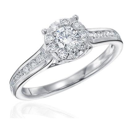 Bouquet Round Diamond Engagement Ring
