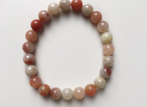 Red Aventurine Beaded Bracelet