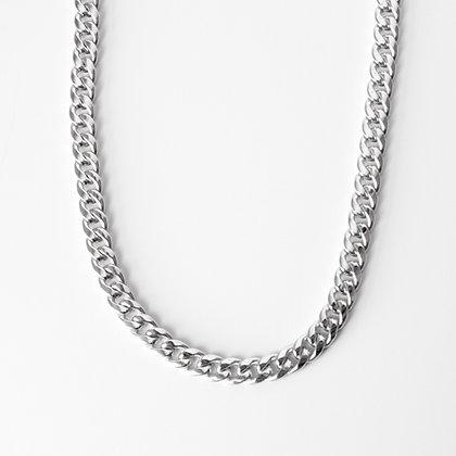 "White Gold Curb Link Chain (20"")"