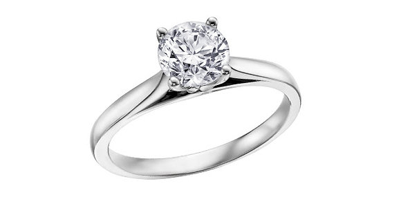 Brilliant Cut Solitaire Diamond Ring