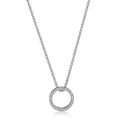 """ELLE Sterling Silver """"Circle of Love"""" Pendant"""
