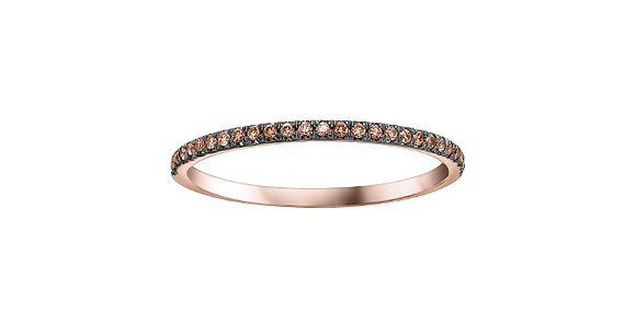 Rose Gold Natural Brown Diamond Stackable Ring